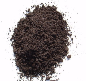 Dark earth soil